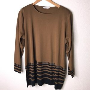 Exclusively Misook Long Sleeve Blouse Top